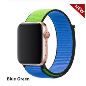 *❤️NEW Blue Green Sport Loop Strap For Apple Watch